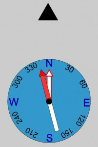 Compass Graphic - Declination 15 West