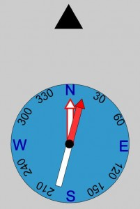 Compass Graphic - Declination 15 East