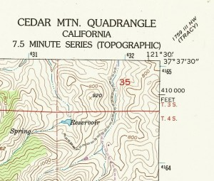 Topo: Upper Right Corner of a 7.5 Minute Map