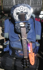 Loaded Backpack with Guitar