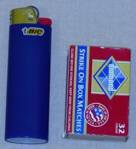 Lighter and Matches